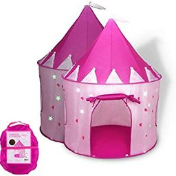 Foxprint Princess Castle Play Tent With Glow In The Dark Stars, Conveniently Folds In To A Carryi... | Amazon (US)