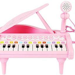 Conomus Piano Keyboard Toy for Kids, 1 2 3 4 Year Old Girls First Birthday Gift , 24 Keys Multifu... | Amazon (US)