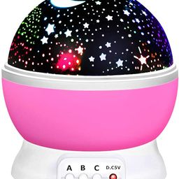 ATOPDREAM Amusing Moon Star Projector Light for Kids - Festival Gifts | Amazon (US)