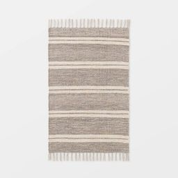 """2'1""""x3'2"""" Indoor/Outdoor Scatter Striped Rug Tan - Threshold™ designed by Studio McGee 