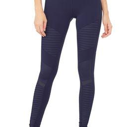 Moto Legging in Rich Navy/Rich Navy Glossy, Size: Medium | Alo Yoga® | Alo Yoga
