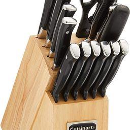 Cuisinart C77BTR-15P Triple Rivet Collection 15-Piece Cutlery Block Set, Black | Amazon (US)