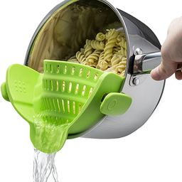 Kitchen Gizmo Snap N Strain Strainer, Clip On Silicone Colander, Fits all Pots and Bowls - Lime G... | Amazon (US)