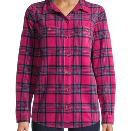 Time and Tru Women's Fleece Shirt Jacket | Walmart (US)