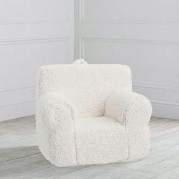 My First Cream Sherpa Anywhere Chair® | Pottery Barn Kids