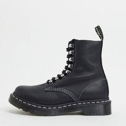 Dr Martens 1460 8 eye ski hook boots in black | ASOS (Global)