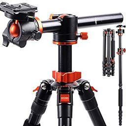 K&F Concept TM2515T1 Professional 67 inch Camera Tripod Horizontal Aluminium Tripods Portable Mon... | Amazon (US)