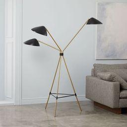 Curvilinear Mid-Century 3-Light Floor Lamp | West Elm (US)