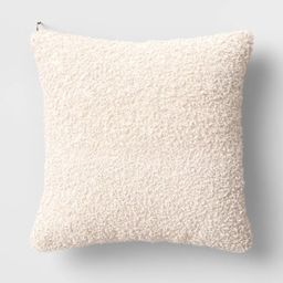 Boucle Throw Pillow with Exposed Zipper - Threshold™ designed with Studio McGee | Target