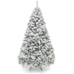 Best Choice Products 6ft Premium Holiday Christmas Pine Tree w/ Snow Flocked Branches, Foldable M... | Walmart (US)