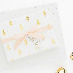 White with Gold Christmas Trees Gift Wrap, Single Roll - Sugar Paper™ | Target