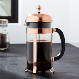 Bodum Chambord Copper 34 Ounce French Press + Reviews   Crate and Barrel   Crate & Barrel