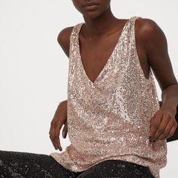 Sequined sleeveless top | H&M (UK, IE, MY, IN, SG, PH, TW, HK, KR)