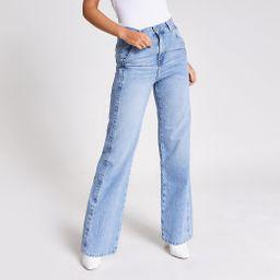 Mid blue slim wide leg jeans | River Island (UK & IE)