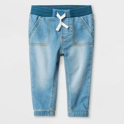 Baby Boys' Knit Repreve Jeans Walter Wash - Cat & Jack™ Blue | Target