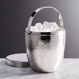 Graham Hammered Metal Ice Bucket + Reviews   Crate and Barrel   Crate & Barrel