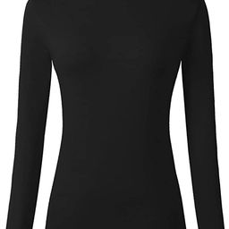 Veranee Women's Long Sleeve Slim Fit Turtleneck Basic Layering T-Shirt | Amazon (US)