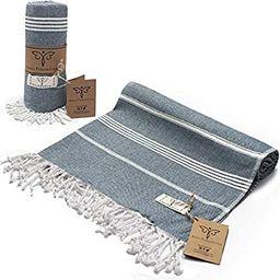 Smyrna Classical Series Original Turkish Beach Towel | 100% Cotton, Prewashed, 37 x 71 Inches | P... | Amazon (US)