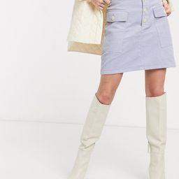 & Other Stories pocket detail cord mini skirt in ice blue | ASOS (Global)