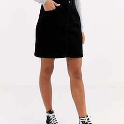 New Look cord pocket mini skirt in black | ASOS (Global)