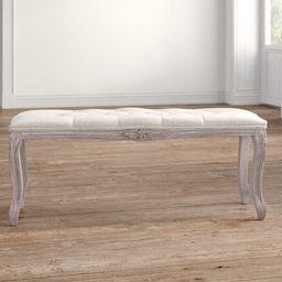 Vasquez Wood Upholstered Bench   Wayfair North America