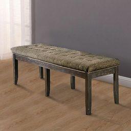 Jovani Solid Wood Upholstered Bench   Wayfair North America