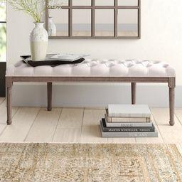 Alida Tufted Half Circle Upholstered Bench   Wayfair North America