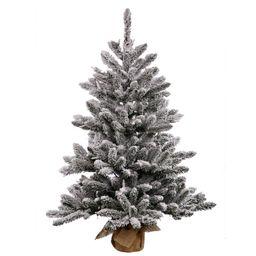 "Vickerman 24"" Flocked Anoka Pine Artificial Christmas Tree, Unlit   Walmart (US)"