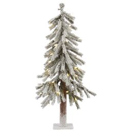 Vickerman Pre-Lit 3' Flocked Alpine Artificial Christmas Tree, LED, Warm White Lights   Walmart (US)
