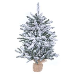 "Vickerman 30"" Flocked Anoka Pine Artificial Christmas Tree, Unlit   Walmart (US)"