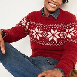 Cozy Fair Isle Crew-Neck Sweater for Men   Old Navy (US)