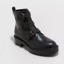 Women's Calypso Buckle Boots - A New Day™ Black   Target
