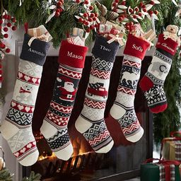 Natural Fair Isle Stocking Collection | Pottery Barn Kids