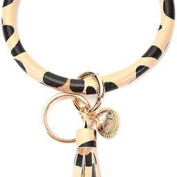 Kangan Key Ring Bracelets Wristlet Keychain Bangle Keyring - Large Circle Leather Tassel Bracelet...   Amazon (US)