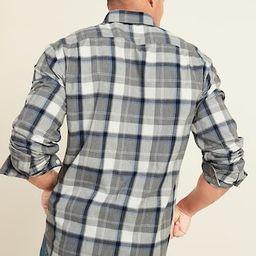 Regular-Fit Everyday Plaid Long-Sleeve Shirt for Men   Old Navy (US)