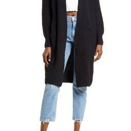 Ribbed Open Front Cardigan | Nordstrom