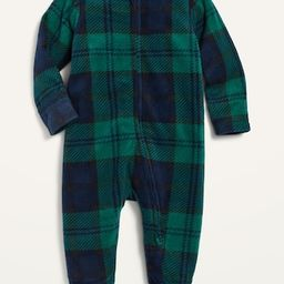 Unisex Micro Fleece Footed One-Piece for Baby | Old Navy (US)