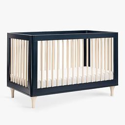 Babyletto Lolly Convertible Crib, Navy/Washed Natural | Pottery Barn Kids