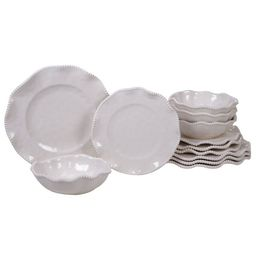 Lamont 12 Piece Melamine Dinnerware Set, Service For 4 | Wayfair North America