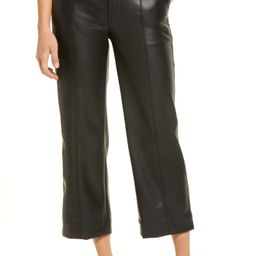 Women's Madewell Slim Emmett Women's Faux Leather Wide Leg Pants | Nordstrom
