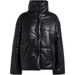 Nanushka Vegan Leather Puffer Jacket   Harrods