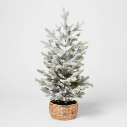 3ft Artificial Christmas Tabletop Flocked Tree - Threshold™   Target