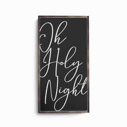 Oh Holy Night Wood Sign, O Holy Night Sign, Christmas Decor, Black and White Christmas, Merry Chr...   Etsy (US)