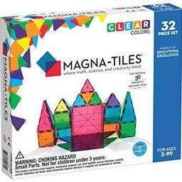 Magna-Tiles 32-Piece Clear Colors Set, The Original, Award-Winning Magnetic Building Tiles for Ki... | Amazon (US)