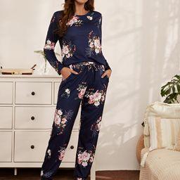 Floral Print PJ Set | SHEIN