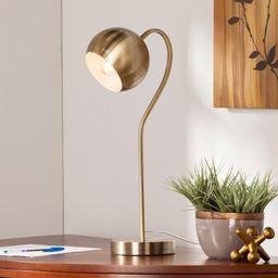 Parkhurst Antique Brass Gooseneck Table/Desk Lamp (Brass)   Overstock