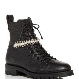 Jimmy Choo                                                        Women's Cruz Lace Up Flat Boots | Bloomingdale's (US)