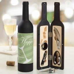Uncork Some Happy Personalized Wine Accessory 5pc Kit   Bed Bath & Beyond