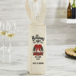 Bottoms Up! Personalized Wine Tote Bag   Bed Bath & Beyond
