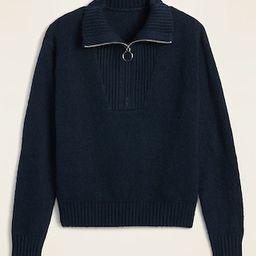 Mock-Neck 1/4-Zip Sweater for Women | Old Navy (US)